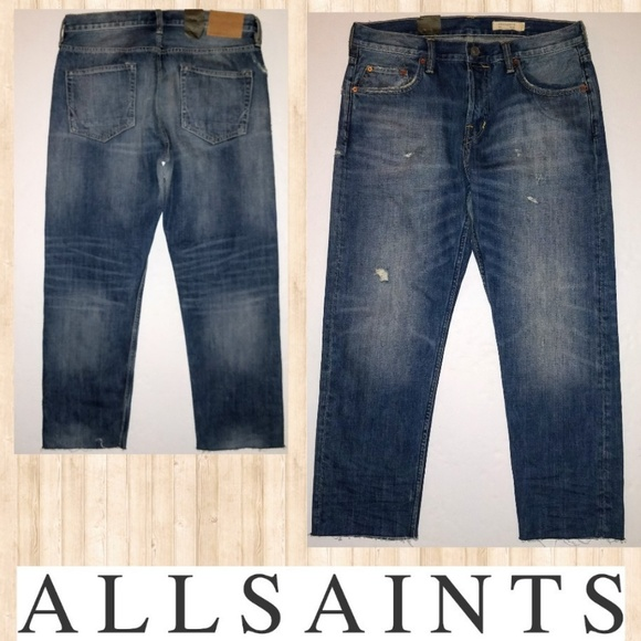 All Saints Other - ALLSAINTS New Mens 32 Sid Straight Crop Jeans